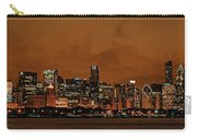 Chicago Skyline Panorama At Dusk Carry-all Pouch