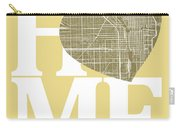 Chicago Street Map Home Heart - Chicago Illinois Road Map In A H Carry-all Pouch