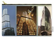 Chicago Tall Shoulders Trump Sears 333 W Wacker Triptych 3 Panel 01 Carry-all Pouch