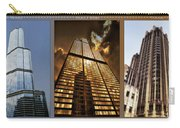 Chicago Tall Shoulders Trump Sears Tribune Triptych 3 Panel 01 Carry-all Pouch