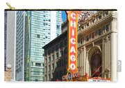 Chicago Theater Marquee Sign On State Street Carry-all Pouch