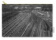 Chicago Transportation 02 Black And White Carry-all Pouch