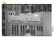 Chicago Tribune Facade Signage Bw Carry-all Pouch