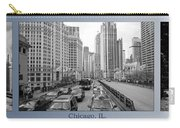 Chicago Triptych 3 Panel Black And White Carry-all Pouch
