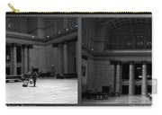 Chicago Union Station The Great Hall 2 Panel Bw Carry-all Pouch