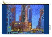 Chicago Water Tower At Night Carry-all Pouch