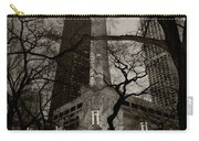 Chicago Water Tower B W Carry-all Pouch by Steve Gadomski