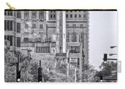 Chicago Water Tower Beacon Black And White Carry-all Pouch