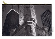 Chicago Water Tower Panorama B W Carry-all Pouch by Steve Gadomski