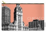 Chicago Wrigley Building - Salmon Carry-all Pouch