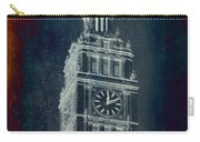 Chicago Wrigley Clock Tower Textured Carry-all Pouch