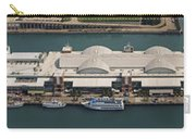 Chicago's Navy Pier Aerial Panoramic Carry-all Pouch by Adam Romanowicz