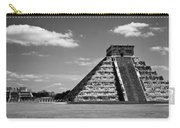 Chichen Itza Blk Wht Carry-all Pouch