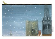 Chichester Cathedral A Snow Scene Carry-all Pouch by Judy Joel