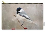 Chickadee And Berries Carry-all Pouch