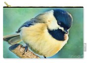 Chickadee Greeting Card Size - Digital Paint Carry-all Pouch