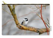 Chickadee In Rain Carry-all Pouch