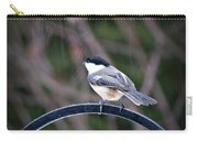 Chickadee In The Rain Carry-all Pouch