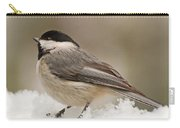 Chickadee In The Snow Carry-all Pouch