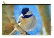 Chickadee On A Bright Day -digital Paint I Carry-all Pouch