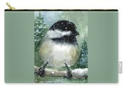 Chickadee On A Limb Carry-all Pouch