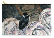 Chickadee On A Sneaker Carry-all Pouch