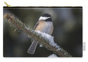 Chickadee On The Spruce Carry-all Pouch