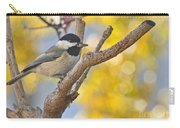 Chickadee With His Prize Carry-all Pouch