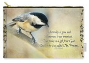 Chickadee With Inspiration Carry-all Pouch