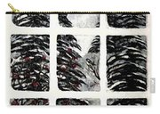 Chickadees And Dogberries Abstraction Carry-all Pouch