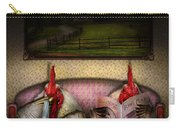 Chicken - Chick Flick Carry-all Pouch by Mike Savad