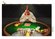 Chicken - Playing Chicken Carry-all Pouch by Mike Savad