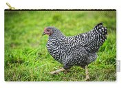 Chicken Walking On Green Pasture Carry-all Pouch