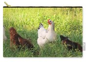Chickens In Tall Grass Carry-all Pouch