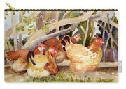 Chickens In The Hedge II Carry-all Pouch