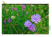 Chicory And Purple Vetch Along Rivier Du Nord Trail In Laurentians-quebec Carry-all Pouch