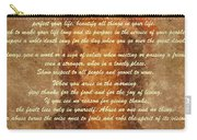 Chief Tecumseh Poem Carry-all Pouch