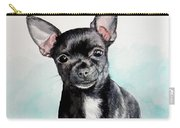 Chihuahua Black Carry-all Pouch