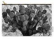 Chihuahua Desert Cactus Bw Carry-all Pouch