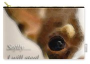 Chihuahua Dog Art - The Thief Carry-all Pouch