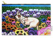 Chihuahua In Flowers Carry-all Pouch by Genevieve Esson
