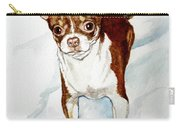 Chihuahua White Chocolate Color. Carry-all Pouch