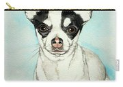 Chihuahua White With Black Spots Carry-all Pouch