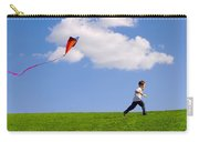 Child Flying A Kite Carry-all Pouch
