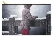 Child In Snow Carry-all Pouch