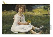 Child In The Meadow Carry-all Pouch