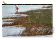 Child Playing On The Beach Mackinaw City Carry-all Pouch