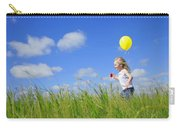 Child Running With A Balloon Carry-all Pouch