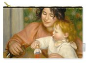 Child With Toys Gabrielle And The Artist S Son Jean Carry-all Pouch by Pierre Auguste Renoir