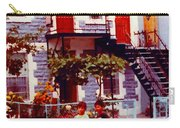 Childhood Montreal Memories Balconies And Bikes The Boys Of Summer Our Streets Tell Our Story Carry-all Pouch